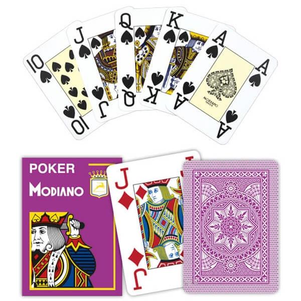 Modiano Poker Cristallo, Jumbo Index