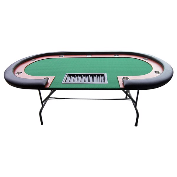 Image of   Pokerbord m. Dealer plads - Grøn