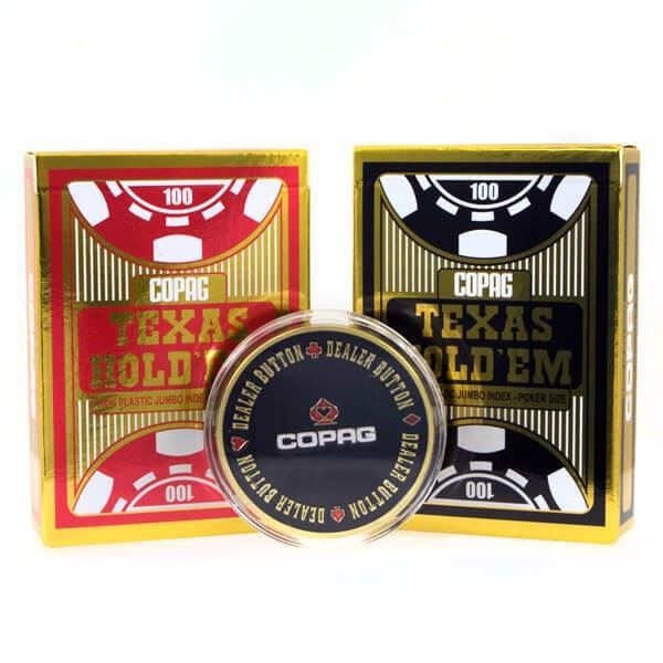Copag Texas Holdem 100% Plastic, Double m. dealer button