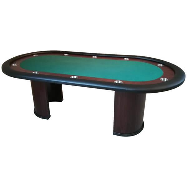 Image of   Pokerbord Racetrack m. søjleben - Grøn