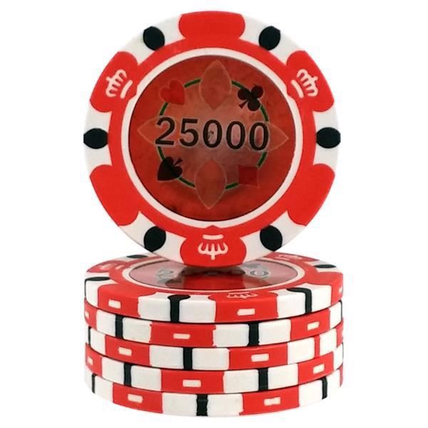 Crown Casino 14,5 gram - Rød 25000