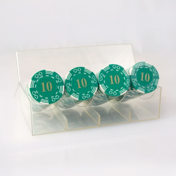 Image of   100 stk. Double Suited Chips 11,5 gram (Grøn)