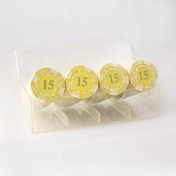 Billede af 100 stk. Double Suited Chips 11,5 gram (Gul)