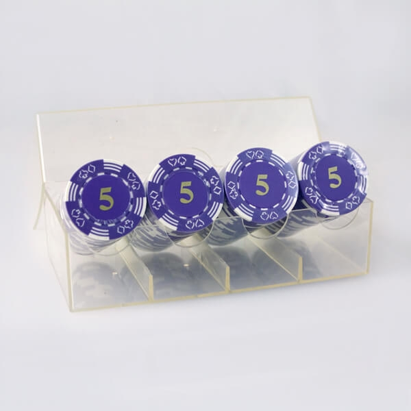 Image of   100 stk. Double Suited Chips 11,5 gram (Lilla)