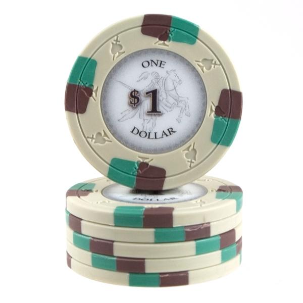 Poker Knights 13,5 gram $1 Grå