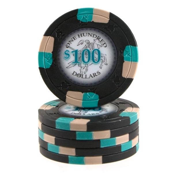 Poker Knights 13,5 gram $100 Sort