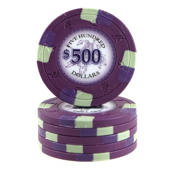 Poker Knights 13,5 gram $500 Lilla