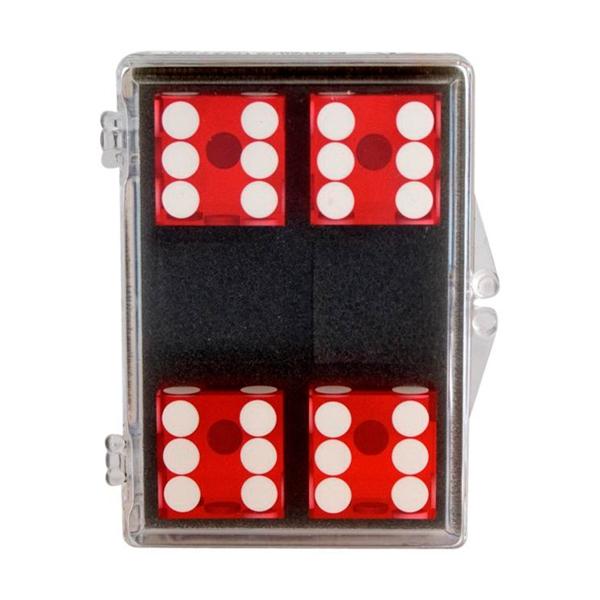 4 stk. Casino Terninger