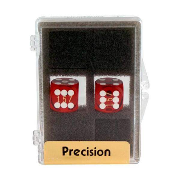 2 stk. Backgammon Præcisionsterninger